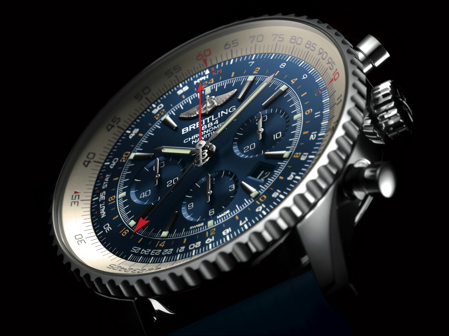 Watch Recommended : Breitling Navitimer GMT Aurora Blue 2016