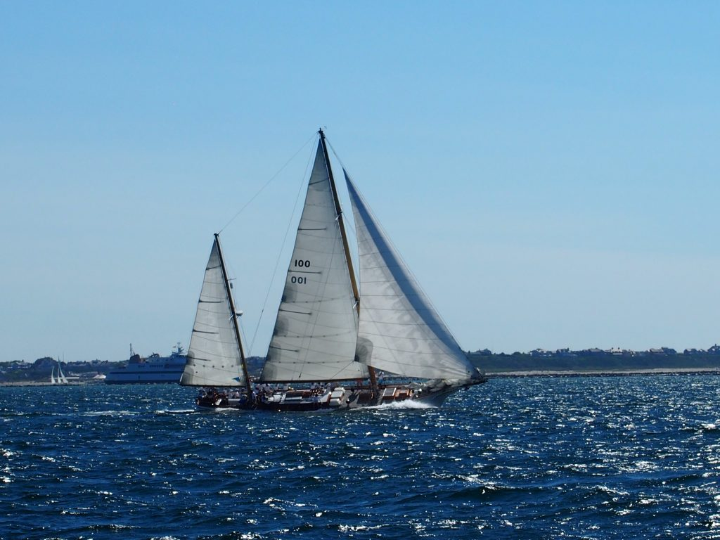 Sailing in Nantucket during the Panerai Classic Yachts Challenge 2017.