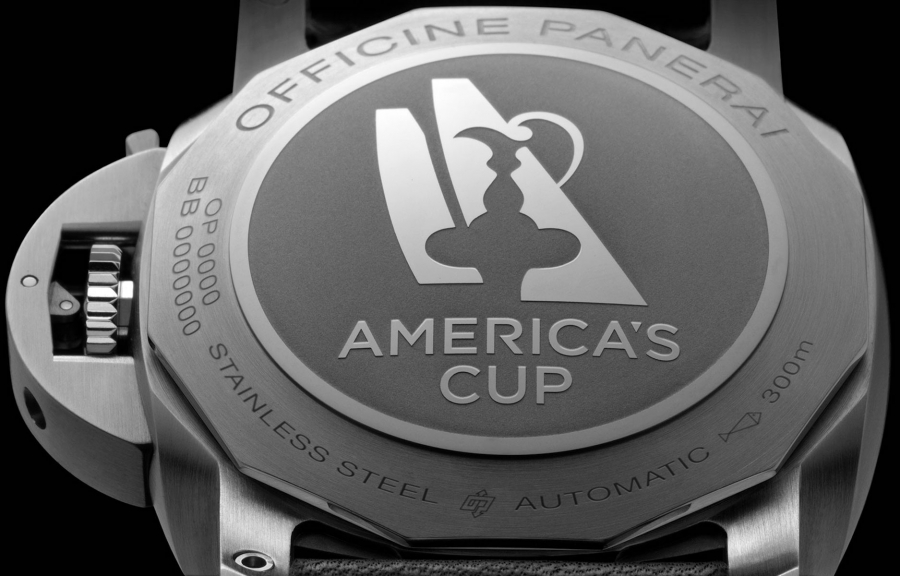 The caseback of the Panerai America's Cup watches are engraved.