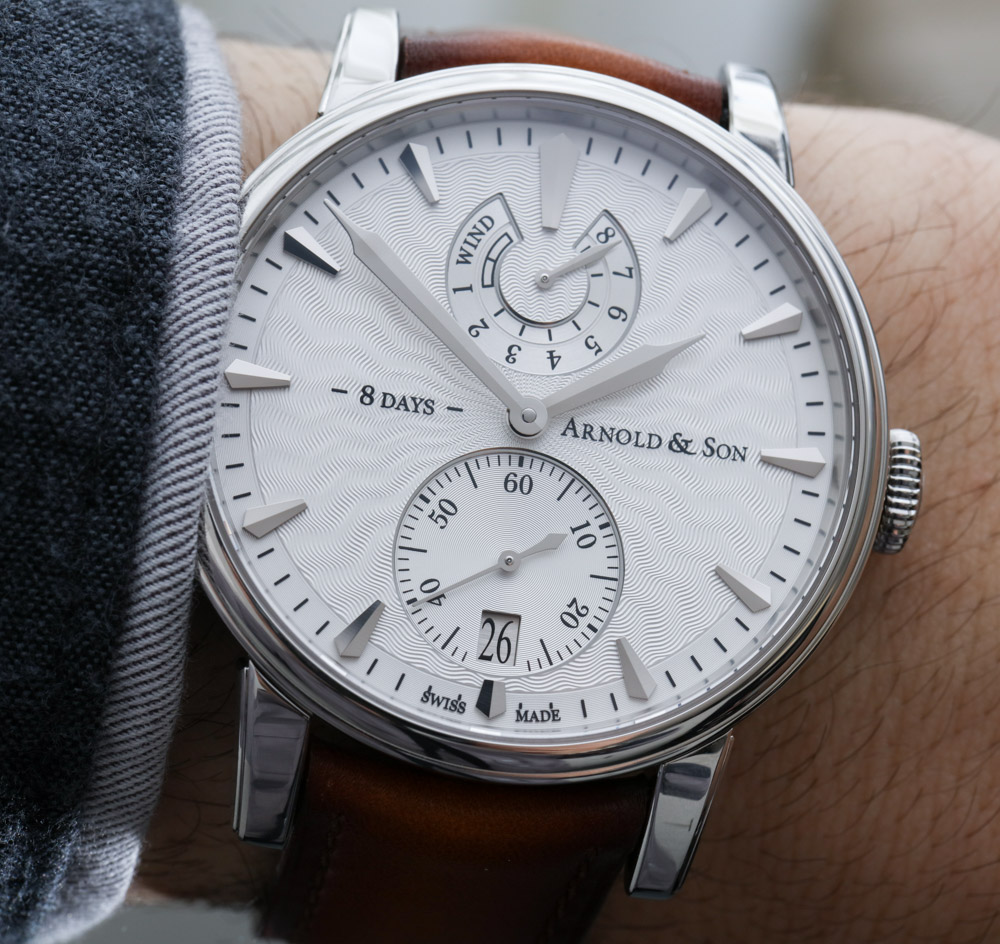 Arnold & Son Eight-Day Royal Navy Watch Hands-On Hands-On