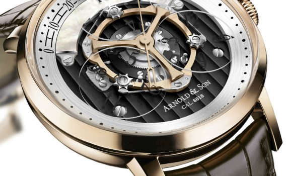 Updated Arnold & Son Golden Wheel Watch With Wandering Hours Watch Releases