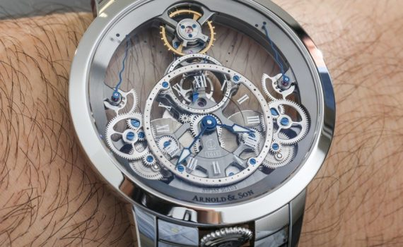 Arnold & Son Time Pyramid Watch In Steel Hands-On Hands-On