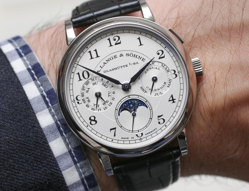 A Lange Söhne 1815 Annual Calendar Watch Hands On