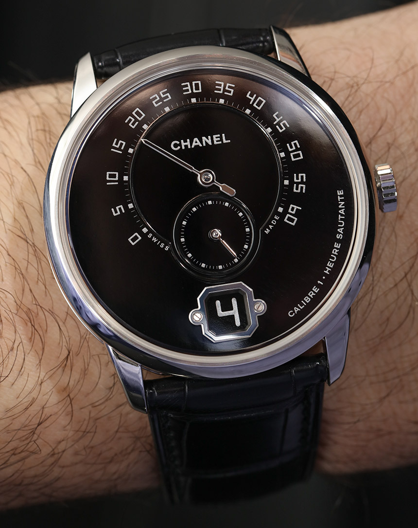 Chanel Monsieur De Chanel Watches Images Watch In Platinum With Black Enamel Dial Hands-On Hands-On