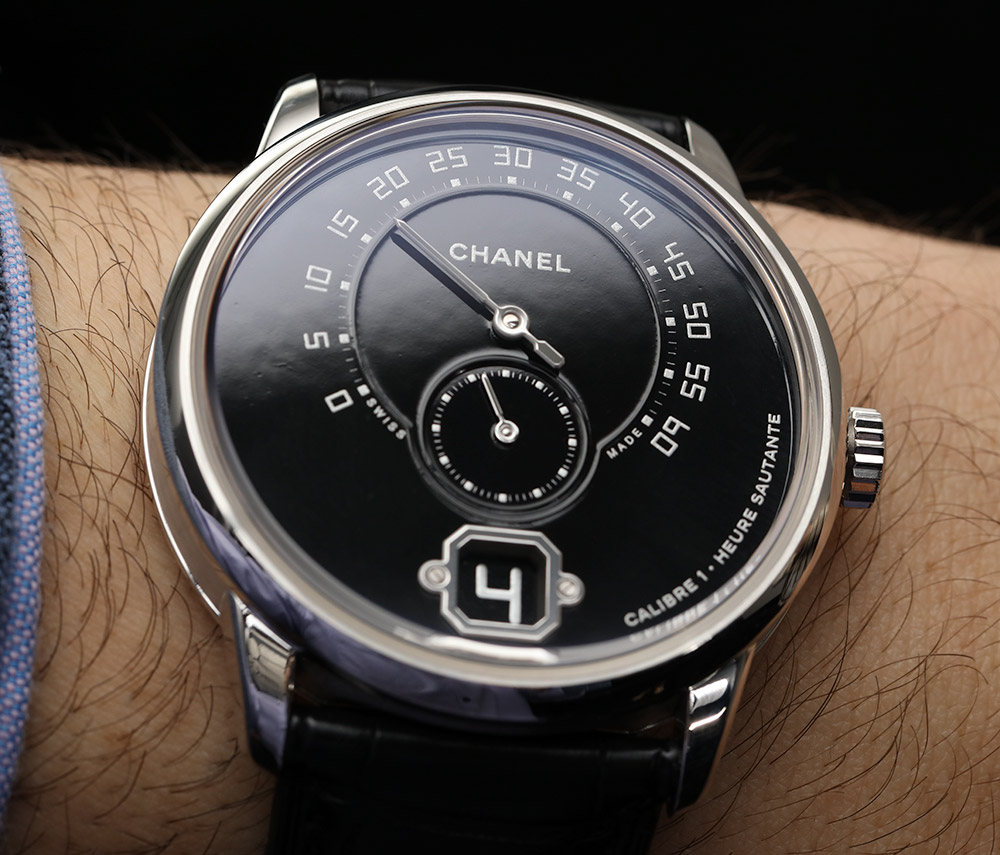 Chanel Monsieur De Watch Channel 9 Watch In Platinum With Black Enamel Dial Hands-On Hands-On