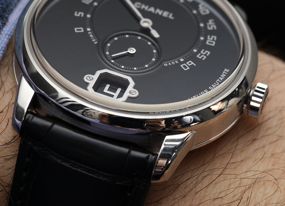 Chanel Monsieur De Chanel Watches Prices South Africa Watch In Platinum With Black Enamel Dial Hands-On Hands-On