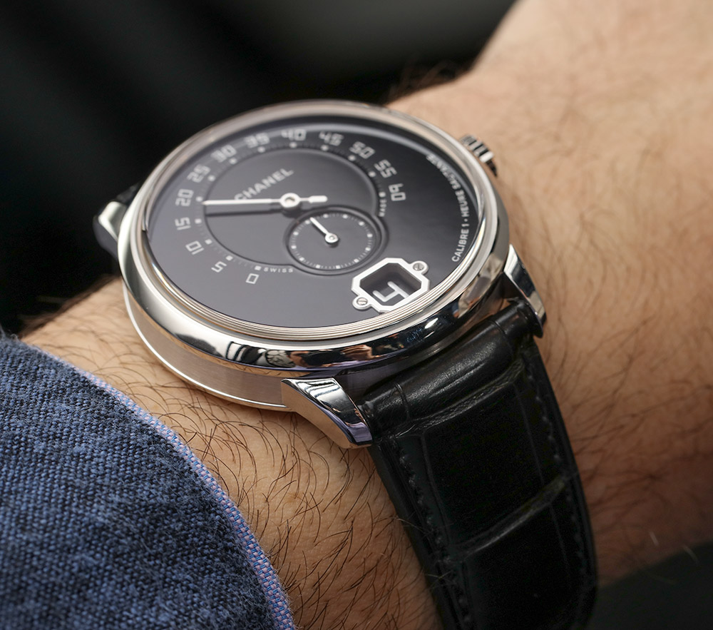 Chanel Monsieur De Chanel Watches L'instant Watch In Platinum With Black Enamel Dial Hands-On Hands-On