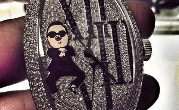 Franck Muller Custom Oppa Gangnam Style Watch For PSY Watch Releases