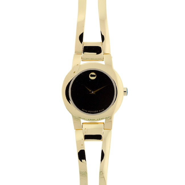 A Total Reviews Of Movado Women's 604758 Amorosa Gold-Tone Stainless Steel Bangle Bracelet Watch