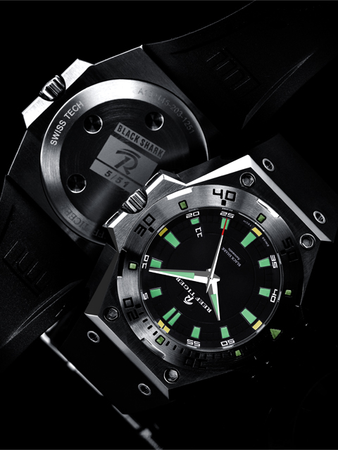Reviewing Reef Tiger Black Shark Automatic Diver Watch